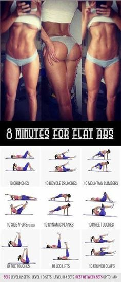 """ 8 minutes for flat abs workout "" and learn about Quick Weight Loss Advice From Fitness And Nutrition Experts"