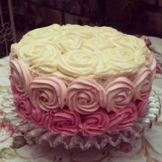 This three tiered rose water cake was a great fun to make! Rose water butter icing separates each layer. Water Birthday, Birthday Cake, Butter Icing, Rose Cake, Beauty Inside, November, Party Ideas, Cakes, Decoration