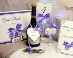 Lavender wedding paper set, place cards, table number, wine labels, guest book and table plan https://www.etsy.com/listing/386627554/20-personalized-printable-weddingparty?ref=shop_home_active_3