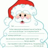 Free Santa Letters - Letters From Santa & Letters to Santa toddler kid template mail list present writing practice motor