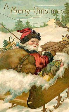 Vintage Santa postcard.