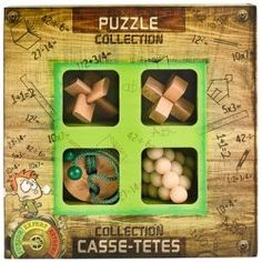 Junior Wooden Puzzle Collection - Toys and Games Ireland 3d Puzzles, Wooden Puzzles, Completing The Square, Fidget Toys, Brain Teasers, Cool Toys, Patience, Kids Toys, Ireland