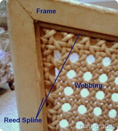 Replacing Cane Webbing Getting Started is part of Cane back chairs - wood Chair Repair Dining Rooms Replacing Cane Webbing Getting Started Cane Furniture, Furniture Repair, Furniture Makeover, Furniture Cleaning, Furniture Stores, Chair Redo, Diy Chair, Bean Bag Chairs Canada, Jute