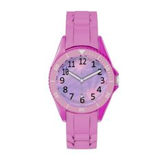 Pink and Lavender Spheres on Blends Numbered Watch