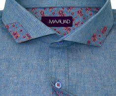 Maauad Hand-Tailored | Camisas Personalizadas | Experiencia de toda la vida Shirt Collars, Shirt Collar Styles, Formal Shirts For Men, Casual Shirts, Mens Attire, Men Shirt, Weaving Patterns, Gentleman Style, Pocket Detail