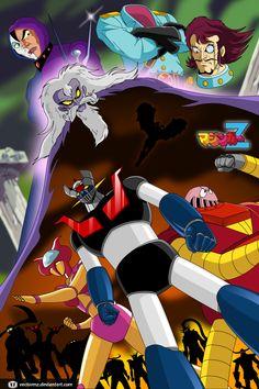 Mazinger Z vs Dr.Hell by Daniel Dugarte (vectormz)