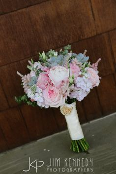 Succulent and pink brides bouquet | Mulberry and Moss florals | Jim Kennedy Photographers