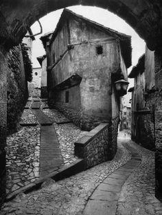 "greeneyes55: "" Albarracin Spain 1955 Photo: Jean Dieuzaide """