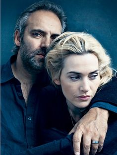 """From 2009 Vanity Fair Hollywood Actors/Directors portfolio - Sam Mendes and Kate Winslet, for their movie, """"Revolutionary Road."""" Photography by Annie Leibovitz. Annie Leibovitz Photos, Annie Leibovitz Photography, Famous Photographers, Portrait Photographers, Sam Mendes, Hollywood, Famous Couples, Kate Winslet, Portrait Inspiration"""