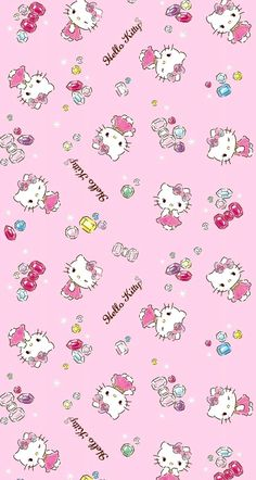 /% Hello Kitty Push Pin Patchworkstoffe Stoffe Kinderstoff Patchwork Vorhangstoff