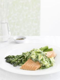 1 perfect dish to serve....Poached trout with cucumber yoghurt salad