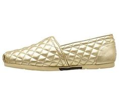 Skechers Women's Luxe Bobs Check Point Memory Foam Slip On Shoes (Gold/Gold)