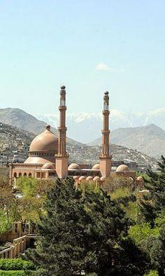 Abdul Rahman Mosque in Kabul, Afghanistan.
