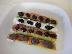 Healthy Snacks - Ants and Friends on a Log