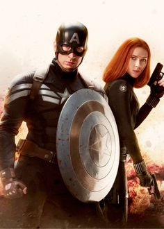 Captain America & Black Widow