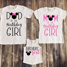 Minnie Mouse Vacation THIS LISTING IS FOR 3 SHIRTS 2 ADULT AND 1 CHILD IF YOU