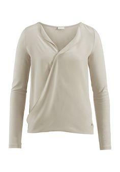 Jersey-Bluse aus Modal mit Seiden-Crêpe - hessnatur Deutschland