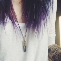 I love the hair. I'm thinking that at some point I will get some purple at the bottom of my hair.