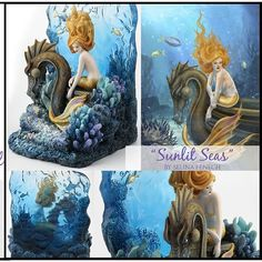 """I love the colour and transparency of this figurine based on my """"Sunlit Seas"""" artwork."""