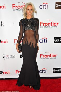 Dare to bare: Lady Victoria Hervey left nothing to the imagination as she attended the 3rd Annual Cinefashion Film Awards at the Saban Theatre in Beverly Hills on Thursday