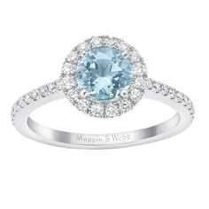 For Her - Aqua and Diamond Cocktail Ring - M06280016