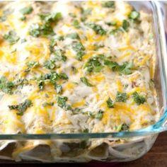 ***Favorite Recipe: Salsa Verde Chicken Enchiladas  Link corrected  Add 2 C green onions to garlic at beginning.