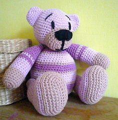 Häkeln Teddy Bär Lavendel von Crochetland auf DaWanda.com