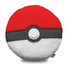 Almofada pokebola para você decorar sua casa ao estilo dos desenhos japoneses.  Geeks fãs de Pokémon vão amar!