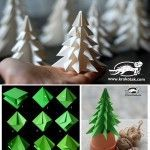 Fold a fir tree - such a clever tutorial! #papercrafts #Christmas #tree