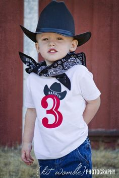 Western shirts Cowboy Birthday number shirt by WalnutStreetHouse2, $15.00