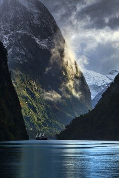 Doubtful Sound in New Zealand Fjordland