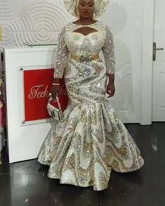 African Formal Dress, African Lace Dresses, African Dresses For Women, African Wedding Attire, African Attire, Lace Blouse Styles, African Print Dress Designs, Ankara Designs, Nigerian Dress