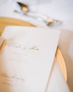 A program detailing the melodies heard throughout the reception rests at each place setting