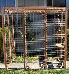 Pre made cat enclosure outdoor cat enclosure pinterest
