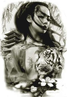 50 Amazing Geisha Tattoos Designs and Ideas For Men And Women Los mejores tatuajes de geishas Geisha Tattoos, Geisha Tattoo Design, Irezumi Tattoos, Tatoo Art, Body Art Tattoos, New Tattoos, Sleeve Tattoos, Samurai Tattoo, Samurai Art