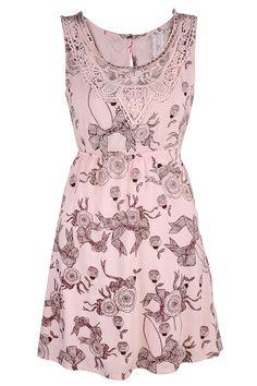ROSE PETALS Pink Printed Dress