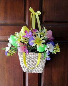 Dollar Tree Door Easter Basket Craftinterrupted