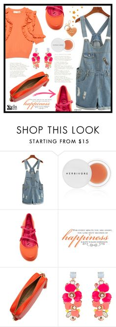 """""""Overall Over Me #2"""" by wynsha ❤ liked on Polyvore featuring Herbivore, Accessorize, denim, Sheinside, overalls, denimshorts and shein"""