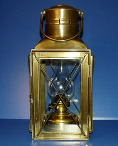 Amazing Antique Vintage Nautical Marine SHIP Lantern with Brass Oil Kerosene Lamp eBay