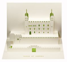 Love these architectural pop-up cards (Tower of London pictured), via 2Modern.