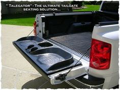 Perfect tailgating truck bed seating    #UltimateTailgate #Fanatics