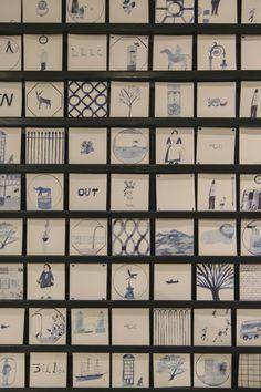Illustrator Laura Carlin's Atelier at The New Craftsmen, Mayfair.