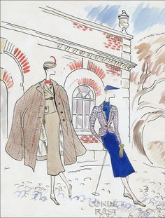The illustration, by Cecil Beaton, in the September 15, 1934, Vogue.