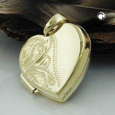 Anhänger, Medaillon Herz, 9Kt GOLD accessorize24-431285