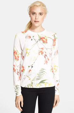 Ted Baker London 'Botanical Bloom' Print Sweater available at #Nordstrom