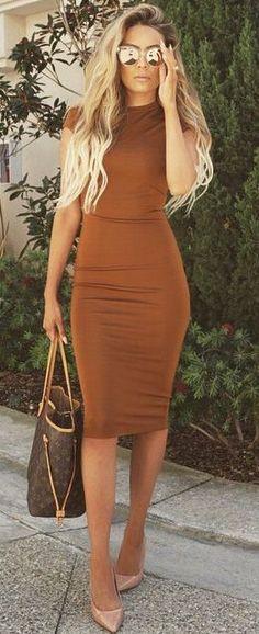Rust color dress