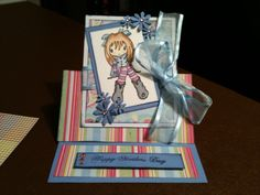Another sugar Nellie manga stamp. Card by Sherie