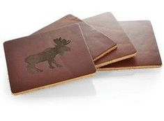 Corporate Gifts Ideas     Corporate Gifts  : Leather Ultra Coaster Set of 4  #Promotional Products #Corporate Gift