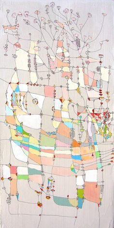 Sarah Giannobile  Paintings inspired by maps?