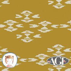Stoffe gemustert - Jersey Art Gallery Observer Overshot Gold - ein Designerstück von LottiKlein bei DaWanda
